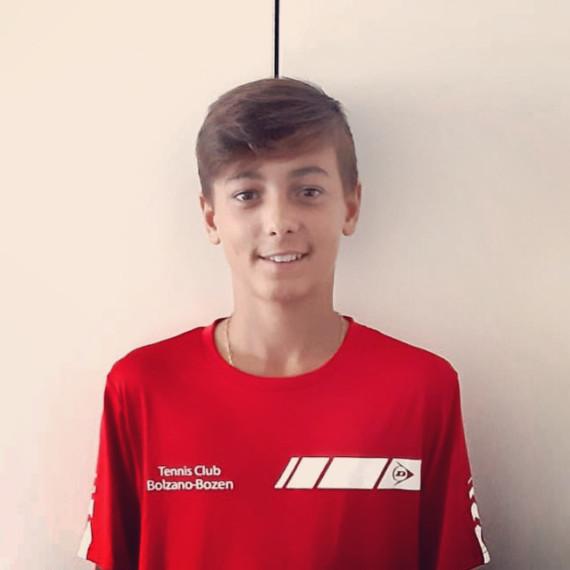 Christian Bacher, vincitore del titolo provinciale Under 13